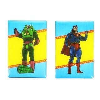 DC Comics Magnet Set: Superman and Lex Luthor - Multi