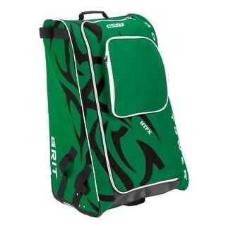 "Grit Inc HTFX Hockey Tower 33"" Wheeled Equipment Bag Green HTFX033-DA (Dallas) - 33''H x 20''W x 17''D"