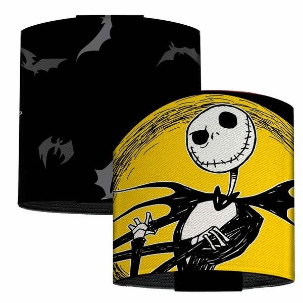 Jack Full Moon Pose Bats Black Gray Yellow Elastic Wrist Cuff