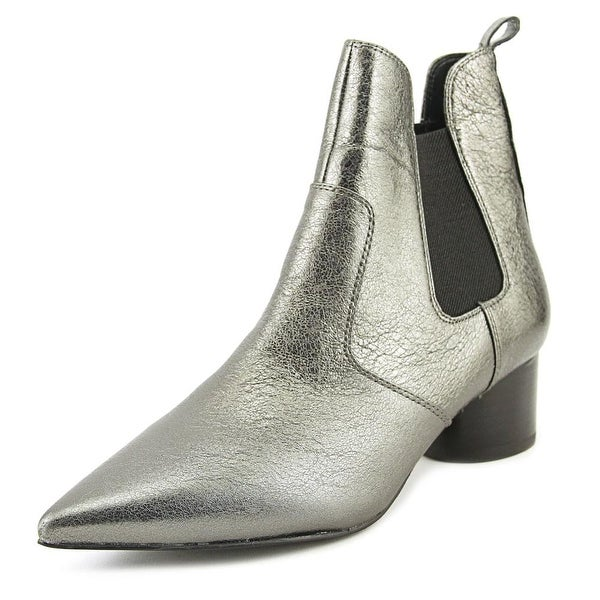 Kendall + Kylie Logan Women Pointed Toe Synthetic Gray Ankle Boot
