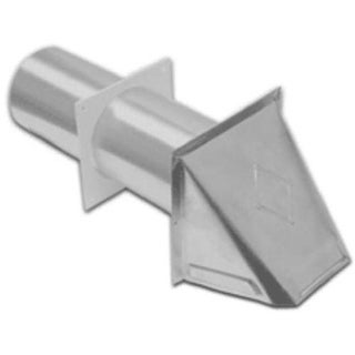 Lambro 344S Aluminum Dryer Vent Hood With Tail Piece And Sleeve