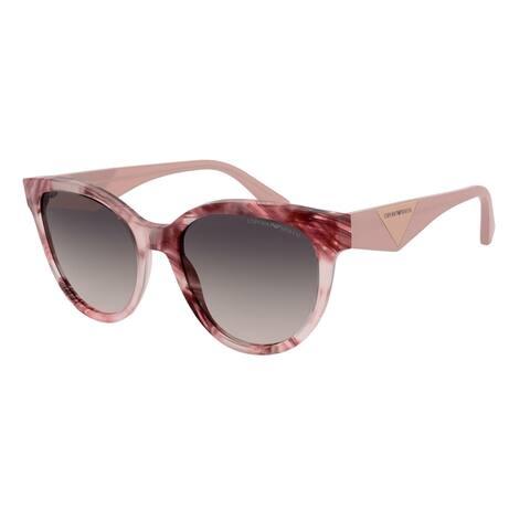 Emporio Armani EA4140F 579813 55 Havana Pink/bordeaux Woman Cat Eye Sunglasses