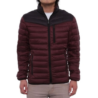 INC International Concepts Color-Blocked Packable Puffer Jacket