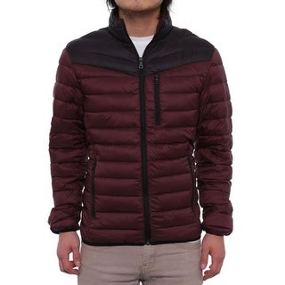 INC International Concepts  Color-Blocked Zip Front Puffer Jacket