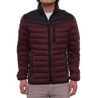 INC International Concepts Men Color-Blocked Packable Puffer Jacket
