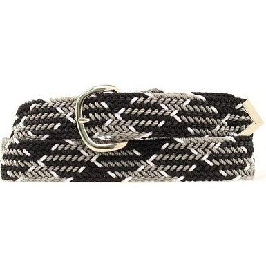 M&F Western Belt Mens Braid Arrow Tip Black Gray White