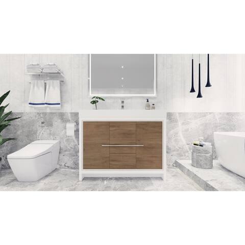 Dove 48'' Freestanding Vanity with Reinforced Acrylic Sink