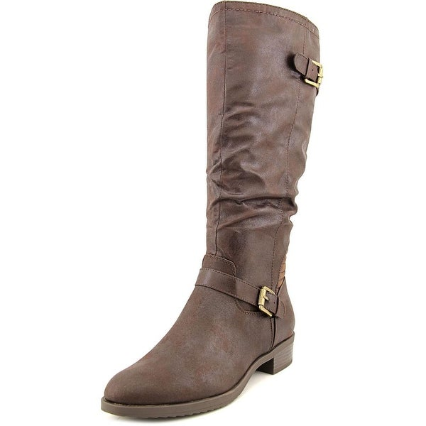 White Mountain Chip Women Round Toe Synthetic Knee High Boot