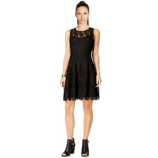 Tommy Hilfiger Scoop Neck Lace Fit & Flare Cocktail Day Dress - 4