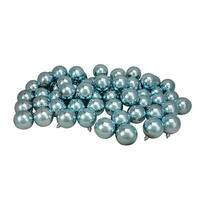 "60ct Mermaid Blue Shatterproof Shiny Christmas Ball Ornaments 2.5"" (60mm)"