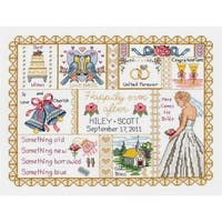 """Wedding Collage Counted Cross Stitch Kit-13.25""""X10"""" 14 Count"""
