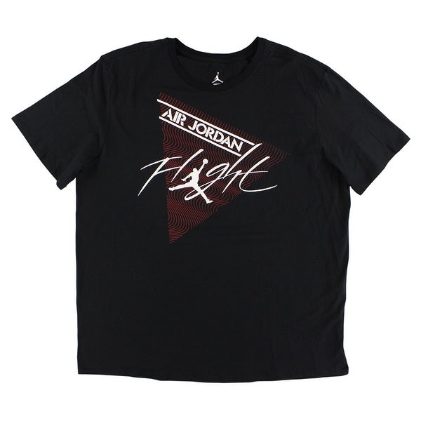 ed9f9d2af320 Shop Jordan Mens Flight T Shirt Black - Black Red White - xL - Free Shipping  On Orders Over  45 - Overstock - 22696298