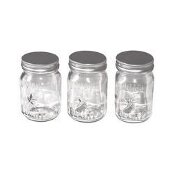 """Clear 4""""X2.25"""" - Idea-Ology Mini Glass Mason Jars 3/Pkg"""