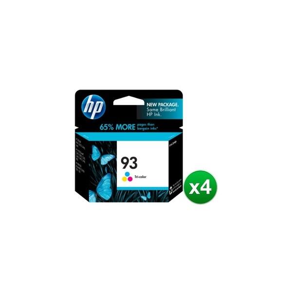 HP 93 Tri-color Original Ink Cartridge (C9361WN) (4-Pack)