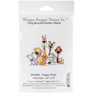 """Whipper Snapper Cling Stamp 4""""X6""""-Puppy Chow"""