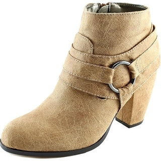 Michael Antonio Martina Women  Round Toe Synthetic Tan Ankle Boot