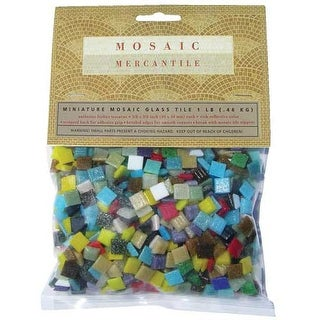 Mosaic Mercantile - Mini Italian Glass Tile - 1 lb. Bag - Assorted Metallics
