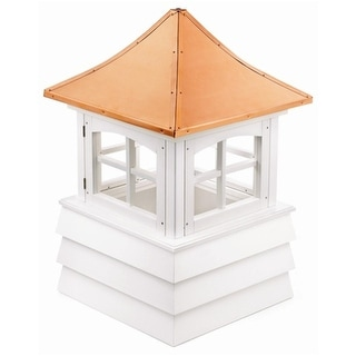 "112"" Handcrafted ""Guilford"" Copper and Vinyl Roof Cupola"