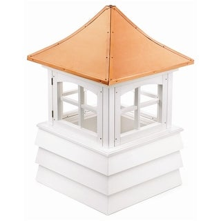 "129"" Handcrafted ""Guilford"" Copper and Vinyl Roof Cupola"
