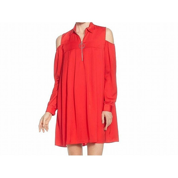 09f7e6a2e0093 Catherine Catherine Malandrino Red Womens Size Large L Shift Dress