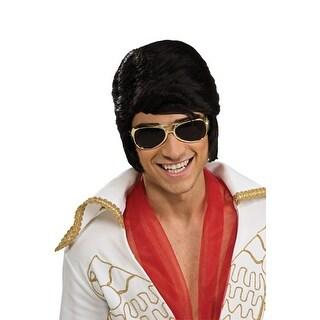 Gold Elvis Glasses Halloween Costume Accessory