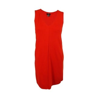 Alfani Women's Sleeveless Pleated Scuba A-Line Dress - Spicy Red - 18W