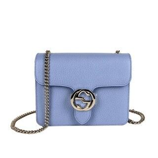 Link to Gucci Women's Light Blue Leather Interlocking G Small Crossbody Bag 510304 4503 Similar Items in Designer Handbags