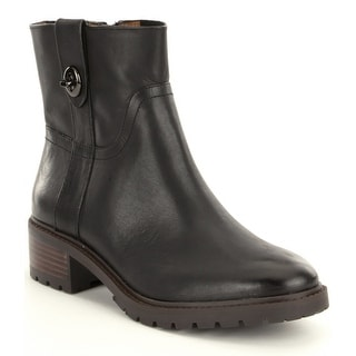 Coach Womens Georgetta Leather Round Toe Ankle Fashion Boots Fashion Boots