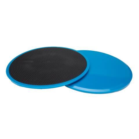 "Mind Reader 2 Pack Body Gliding Discs Floor Sliders Exercise Equipment - 0.19"" x 7"" x 7"""