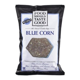 Food Should Taste Good - Blue Corn Tortilla Chips ( 12 - 5.5 oz bags)