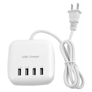 Unique Bargains Universal Wall DC 5V US Plug Power Adapter 4 Port USB Charger White