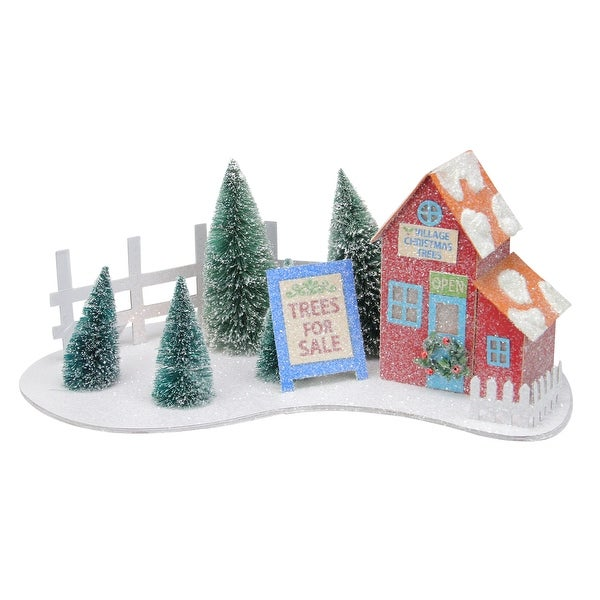 Shop 15 Prelit Glittered Red Christmas Tree Shop With Pine Trees