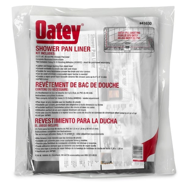Shop Oatey 41630 Pvc Shower Pan Liner Floor 5 X 6 Free Shipping