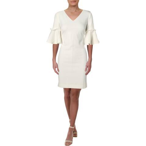 Lauren Ralph Lauren Womens Shift Dress Bell Sleeve Daytime