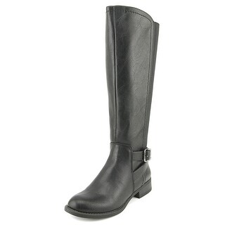 Nine West Leonore Round Toe Synthetic Knee High Boot