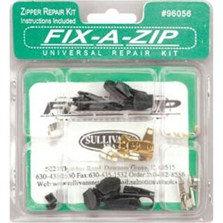 Fix-A-Zip Universal Repair Kit- Fix Your Coat Pants Tent Bag Suitcase Purse