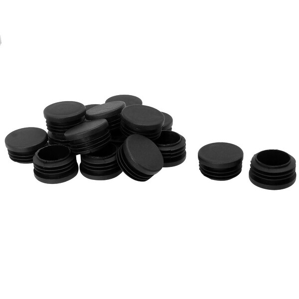 """1 1/2"""" 38mm OD Plastic Tube Inserts Pipe End Covers 16pcs, 1.38""""-1.46"""" Inner Dia, for Round Leg Fitness Eqpt"""