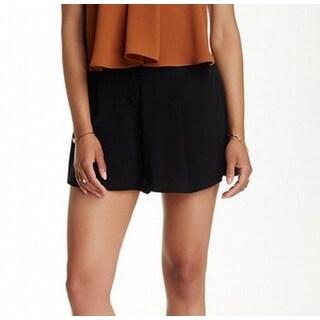 Astr NEW Black Womens Size Medium M Pleat-Front Silk Dress Shorts