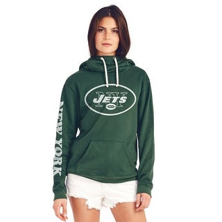 New York Jets Women's Cowl Neck Hooded Sweatshirt