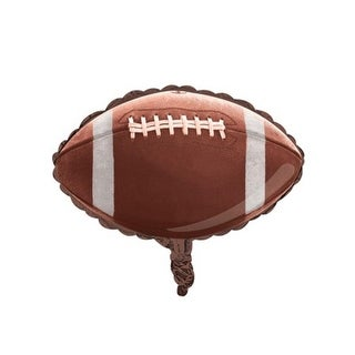 """Pack of 10 Tailgate Rush Football Shaped Metallic Foil Party Balloons 18"""""""