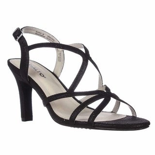 Rialto Rebekah Strappy Evening Sandals - Black/Glitter, 10 M US