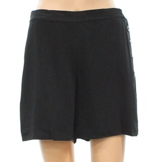 Lauren Ralph Lauren NEW Deep Black Women's Size 4 Flat Front Shorts