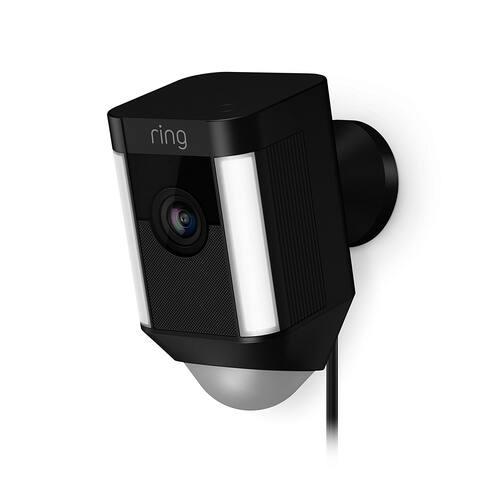 Ring 8SH1P7-BEN0 Spotlight Wired HD Camera with 2-Way Talk & Spotlights, Black