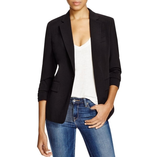 MICHAEL Michael Kors Womens Boyfriend Blazer Twill Cuffed Sleeves