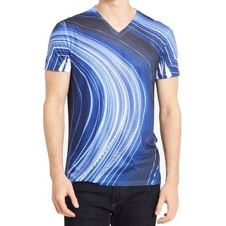 Calvin Klein Men's V Neck Lightway Print T-Shirt