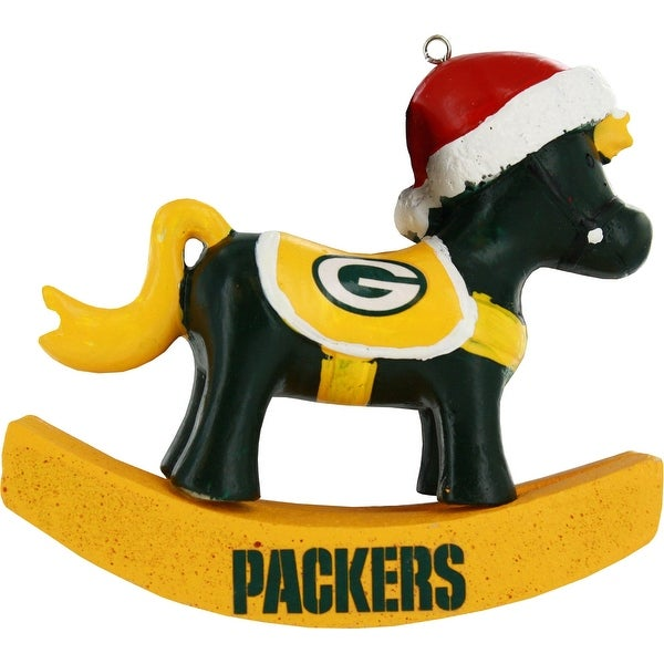 Green Bay Packers Resin Rocking Horse Ornament
