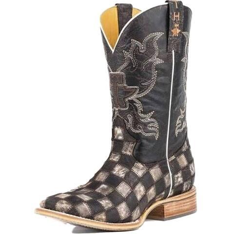 Tin Haul Western Boots Mens Gunmetal Check Brown