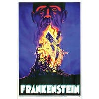 Frankenstein Poster Cling Halloween Decoration