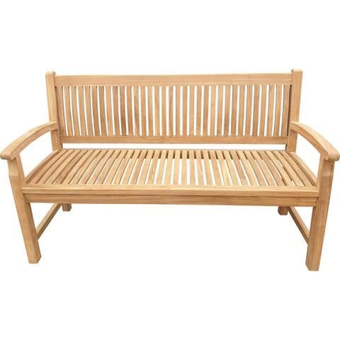 Seven Seas Teak El Mar Teak Wood Outdoor Patio Bench, 5 Foot