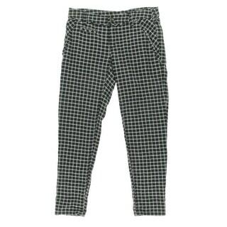 Free People Womens Crinkled Plaid Skinny Pants - 4